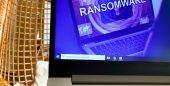 Notebook trancado por ransomware